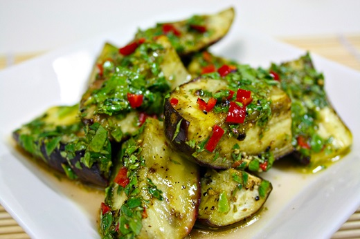 Marinated Aubergines
